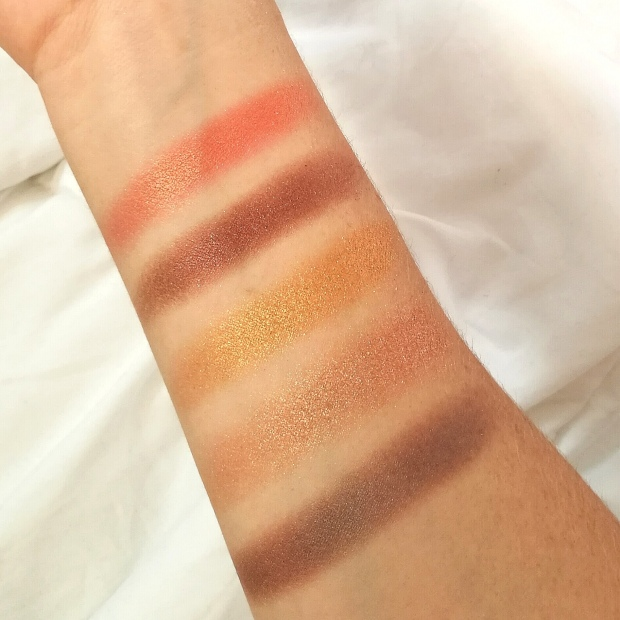 Swatch - Fards Irisés - Palette Rose Gold Sunset - Elsamakeup