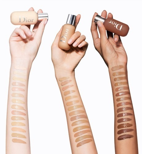 Dior Backstage swatches